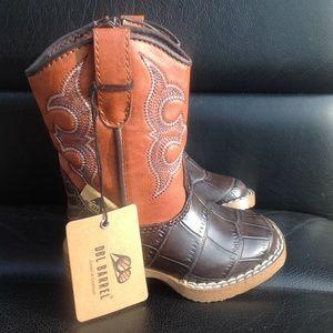 Nwt double barrel boys cowboy boots size 4